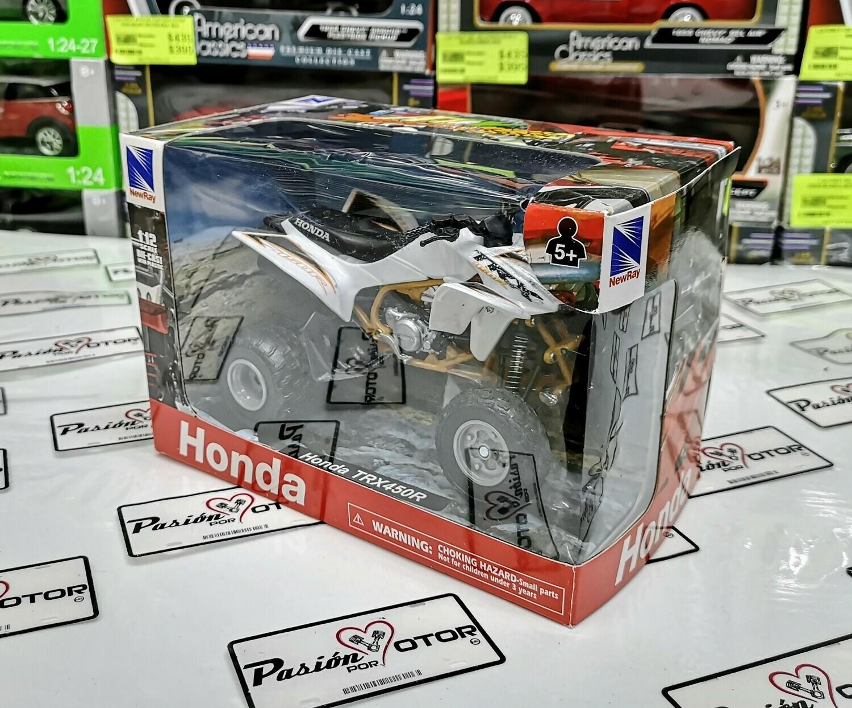 1:12 Honda TRX450R Blanco ATV Cuatrimoto New Ray