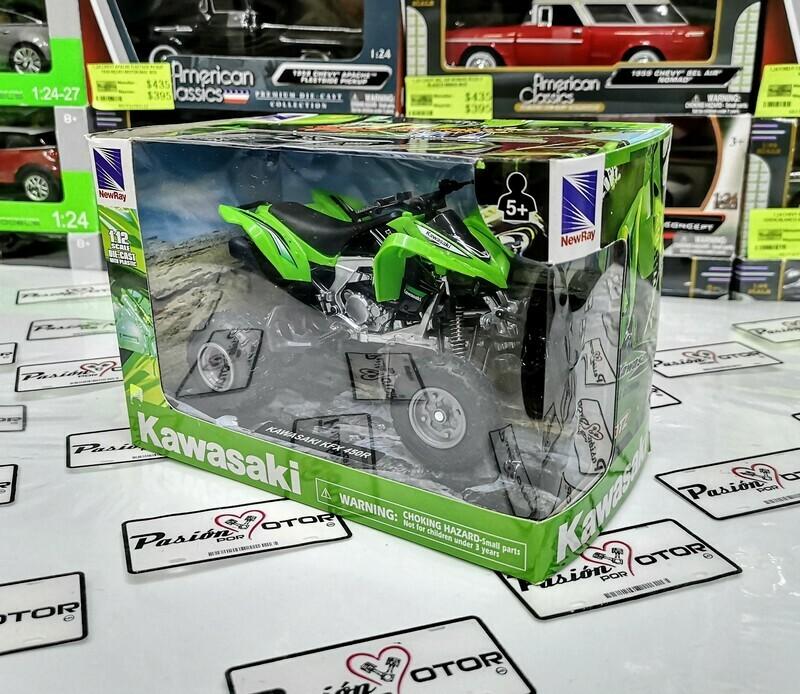 1:12 Kawasaki KFX 450R Verde ATV Cuatrimoto New Ray