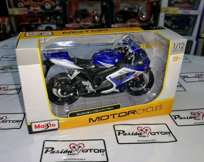 1:12 Suzuki GSX-R750 Azul Maisto Motorcycles