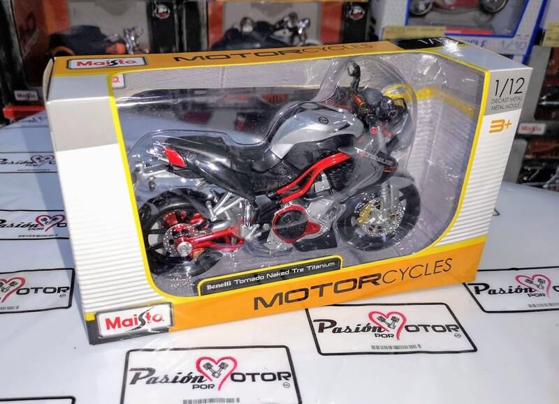 1:12 Benelli Tornado Naked Tre Titanium Plata Maisto Motorcycles