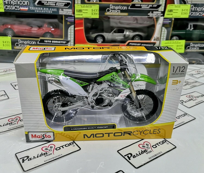 1:12 Kawasaki KX 450F Verde Maisto Motorcycles