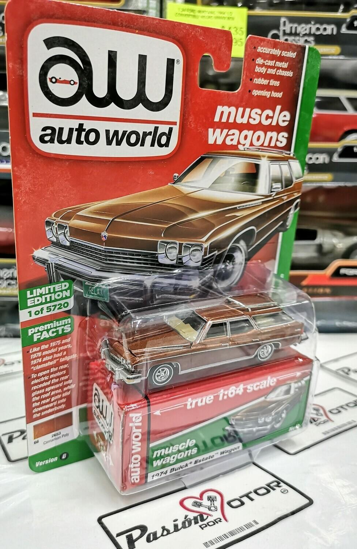 1:64 Buick Estate Wagon 1974 Cafe Auto World Premium Series Guayin