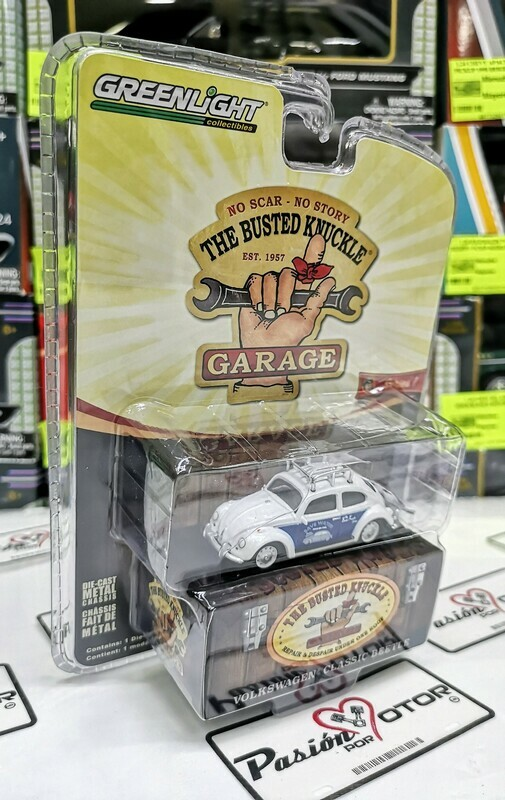 1:64 Volkswagen Classic Beetle Vocho Greenlight The Busted Knuckle Garage Serie 1