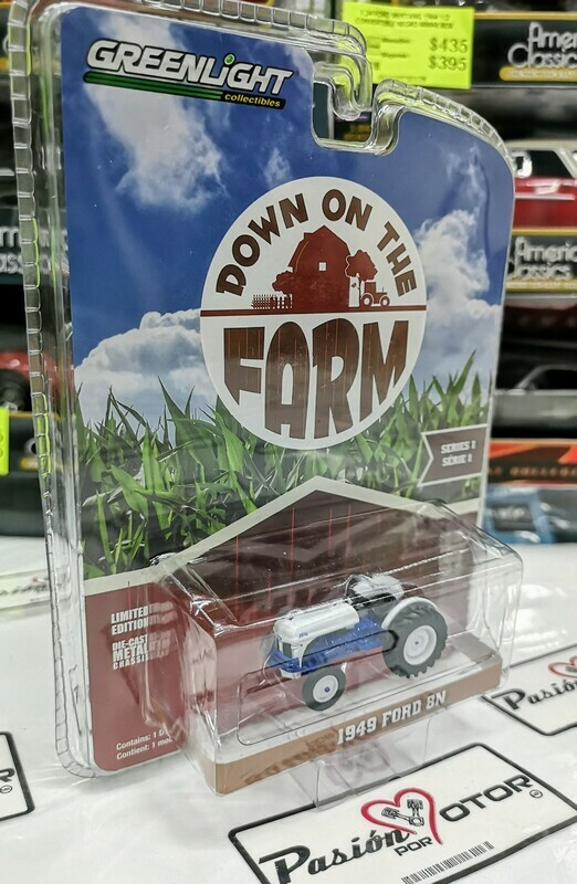 1:64 Ford 8N 1949 Tractor Agricola Greenlight Down On The Farm Serie 1
