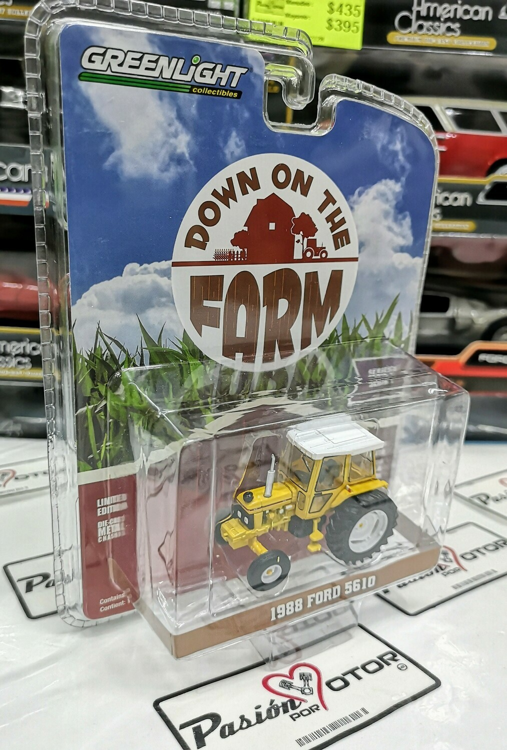 1:64 Ford 5610 1988 Amarillo Tractor Agricola Greenlight Down On The Farm Serie 1