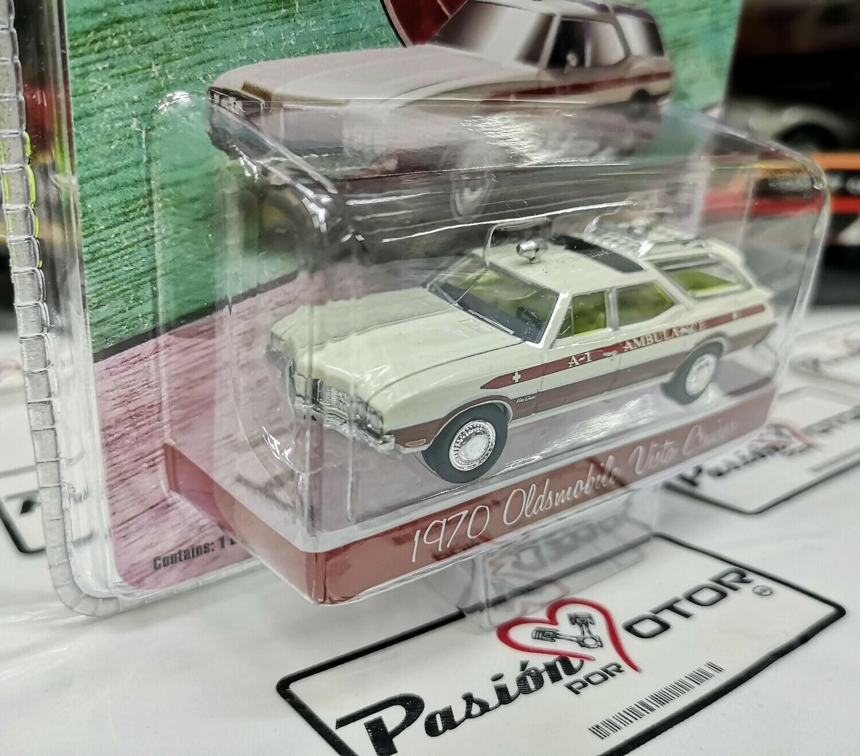1:64 Oldsmobile Vista Cruiser 1970 Ambulancia Guayin Waco Texas, Greenlight Exclusive