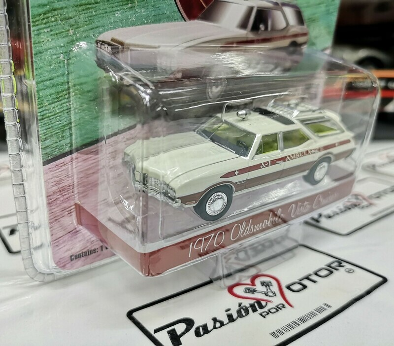 1:64 Oldsmobile Vista Cruiser 1970 Ambulancia Guayin Waco Texas, Greenlight Exclusive