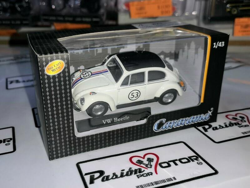 1:43 Volkswagen Beetle 1970 Herbie Cararama