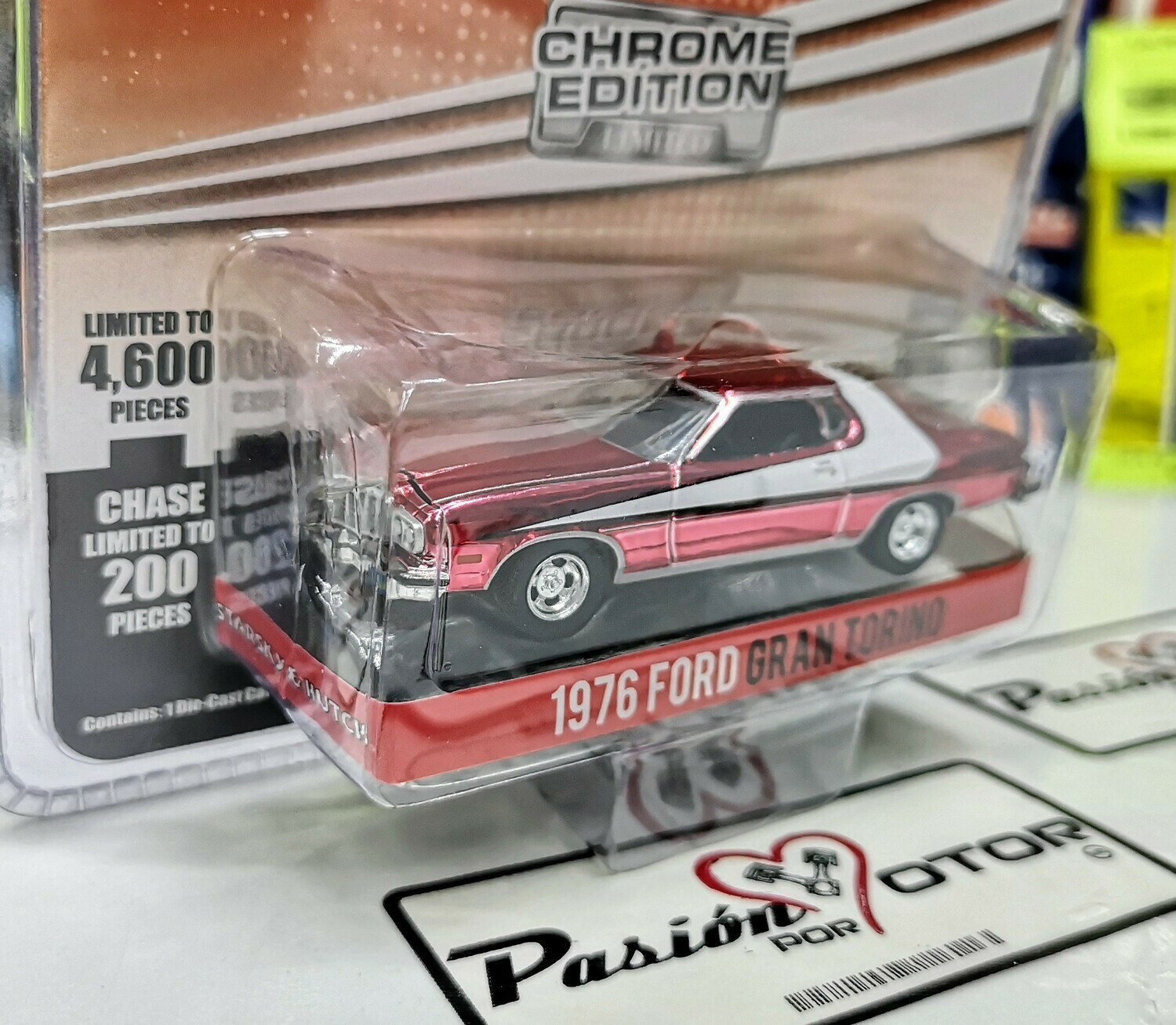 1:64 Ford Torino 1976 Starsky & Hutch Chrome Edition Greenlight Mijo
