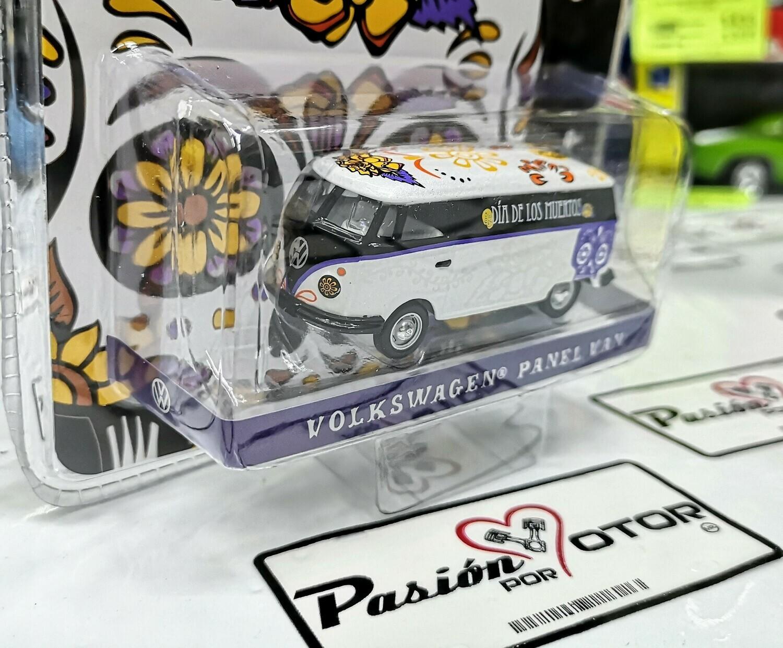 1:64 Volkswagen Panel Van Dia de Muertos Greenlight Hobby Exclusive