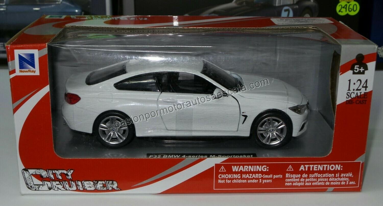1:24 BMW 435i M Serie 4 F32 2013 Blanco New Ray c Caja