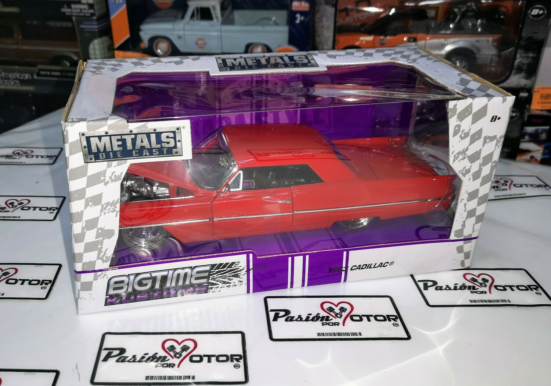 1:24 Cadillac Series 62 1963 Coupe Rojo Jada Toys Big Time Kustoms En Caja