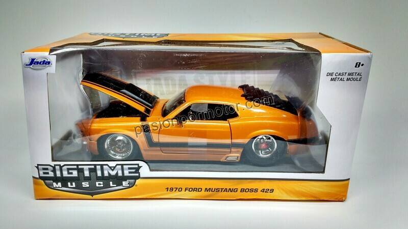 1:24 Ford Mustang Boss 429 1970 Naranja Jada Toys Big Time Muscle En Caja
