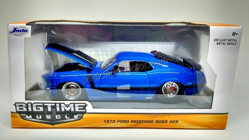 1:24 Ford Mustang Boss 429 1970 Azul Jada Toys Big Time Muscle En Caja