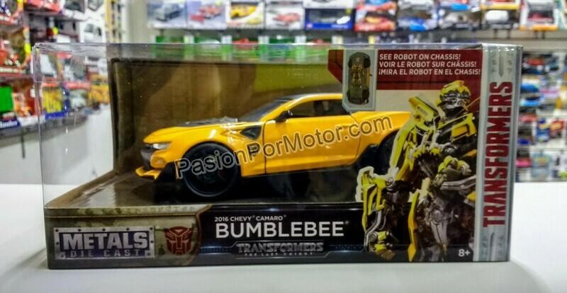 1:24 Chevrolet Camaro 2016 Bumblebee Transformers Last Knight Jada Toys Hollywood Rides C Caja