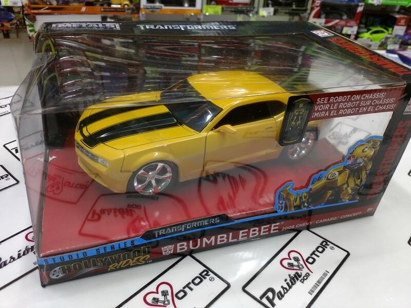 1:24 Chevrolet Camaro Concept 2006 Bumblebee Transformers Jada Toys Hollywood Rides C Caja