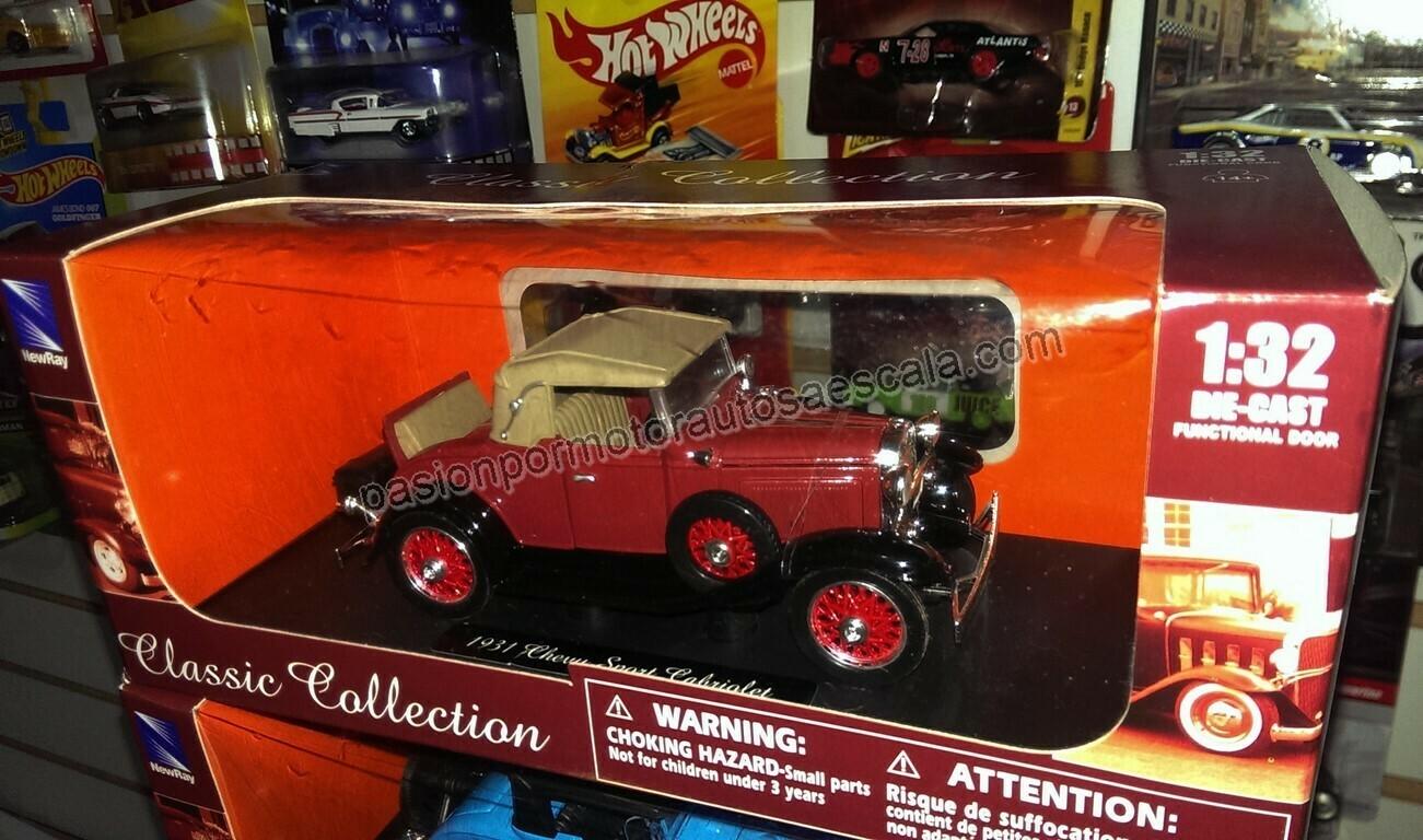 1:32 Chevrolet Sport Cabriolet 1931 Terracota Carcacha New Ray