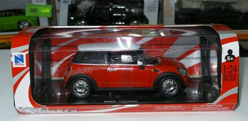 1:24 Mini Cooper 2007 Rojo New Ray Con Caja