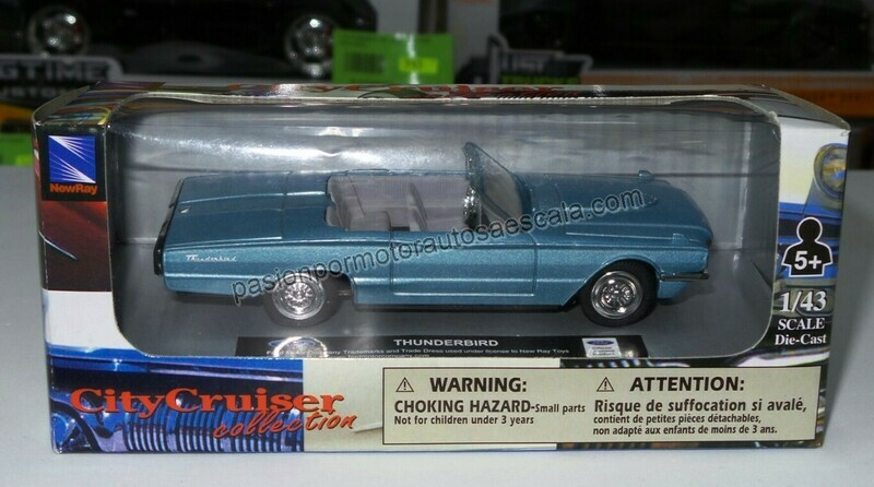 1:43 Ford Thunderbird Convertible 1966 Azul New Ray
