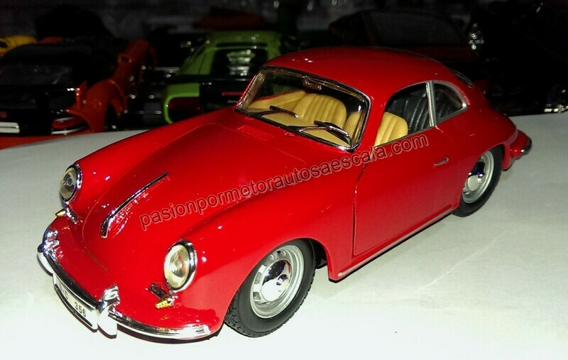 1:24 Porsche 356 B 1961 Rojo Bburago En Display / A Granel