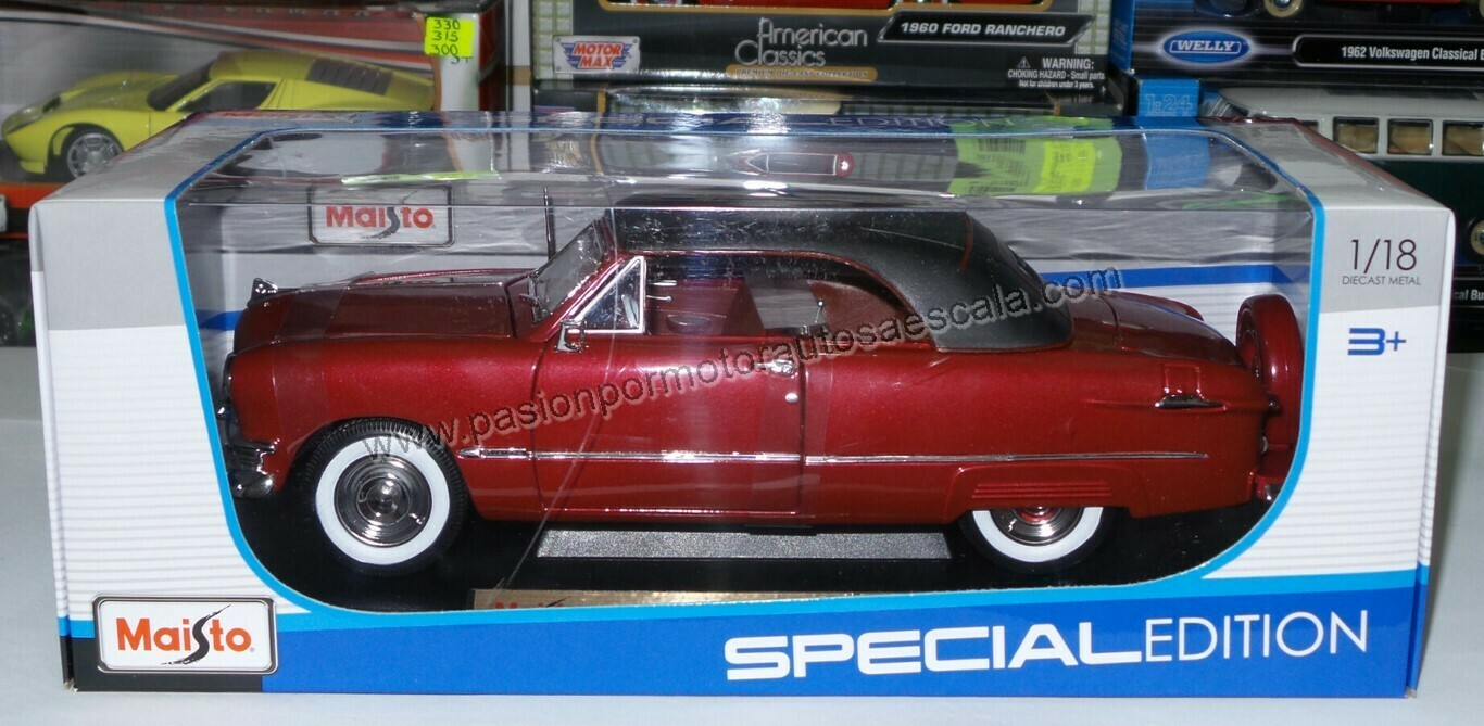 1:18 Ford Custom Convertible 1950 Vino Maisto Special Edition