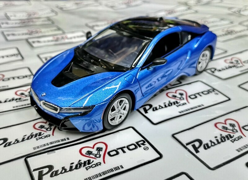 1:24 BMW i8 Coupe 2018 Azul Motor Max En Display / A Granel