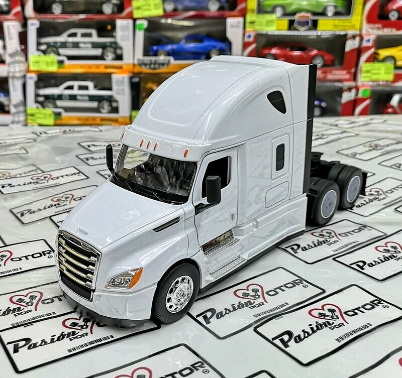 1:32 Freightliner Cascadia 2018 Blanco Cabina Welly En Display / A Granel