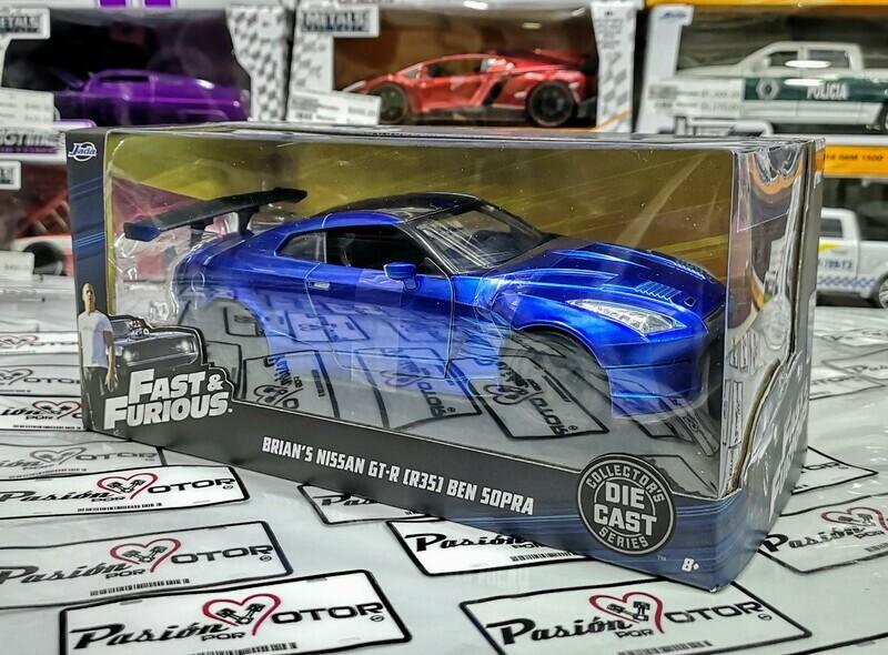 1:24  Nissan GT-R35 Ben Sopra 2009 Brian´s Rapido Y Furioso 6 Jada Toys C Caja
