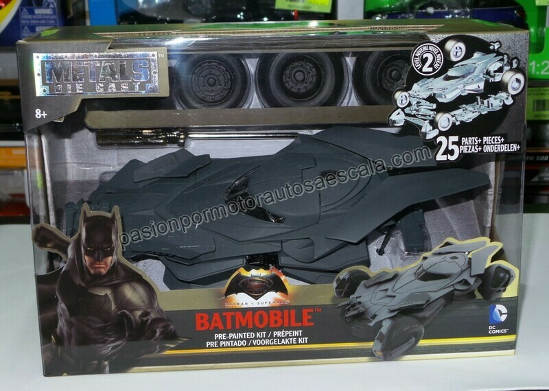 1:24 Batimovil Batman Vs Superman 2015 Para Armar En Metal Jada Toys