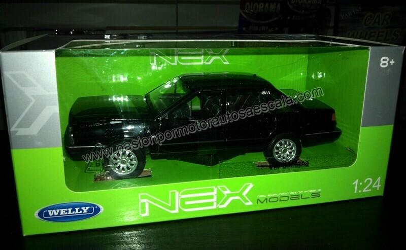 1:24 Volkswagen Santana Corsar 1987 Negro Welly C Caja