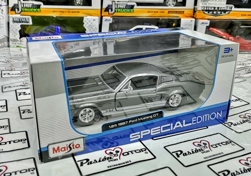 1:24 Ford Mustang GT Fastback 1967 Gris Maisto Special Edition C Caja