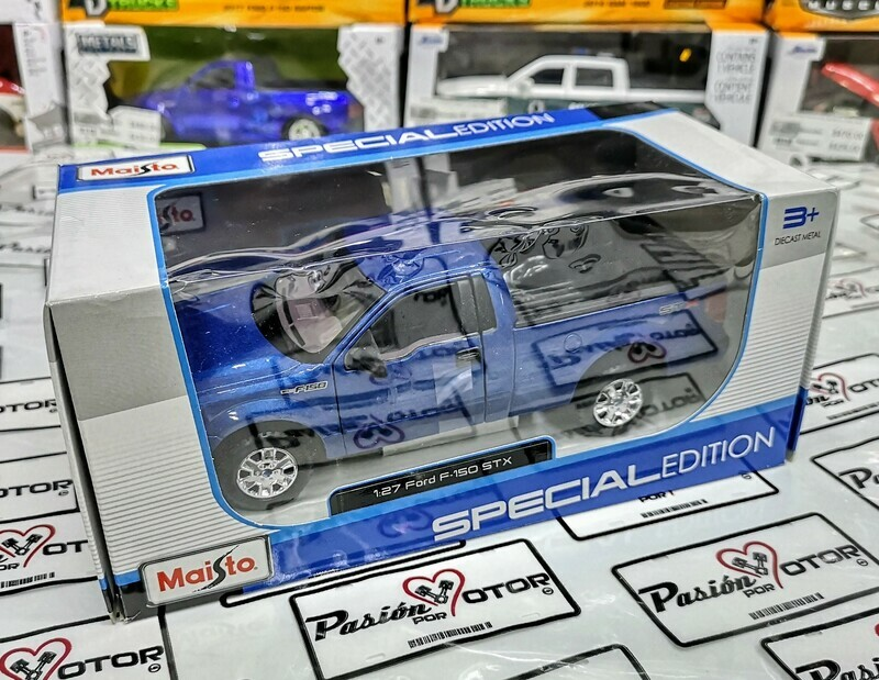 1:25 Ford Lobo Pick Up F-150 STX 2010 Azul Maisto Special Edition C Caja