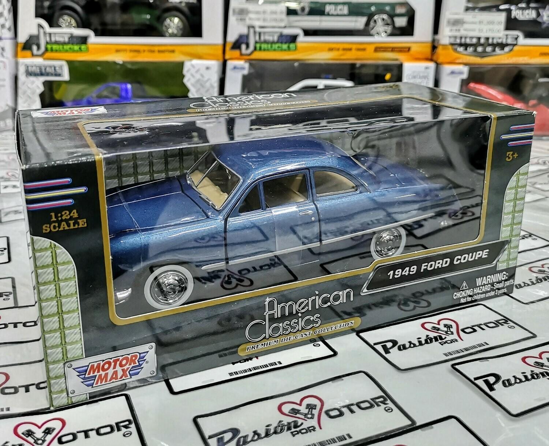 1:24 Ford Coupe 1949 Azul Motor Max American Classics C Caja