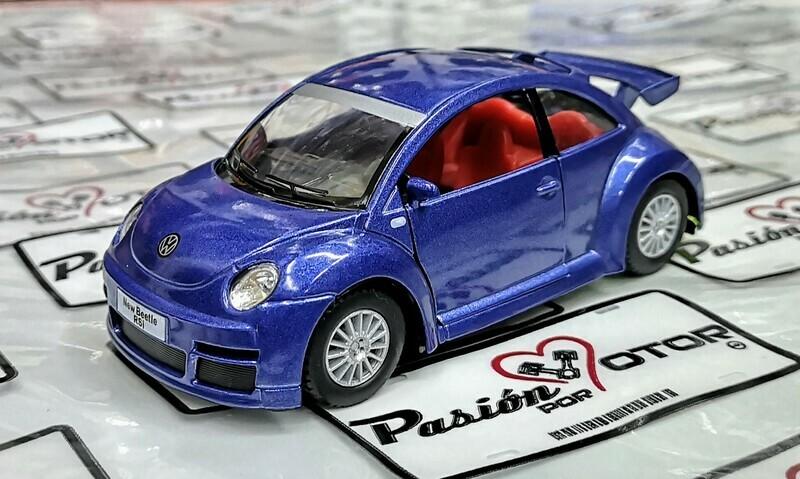 1:32 Volkswagen New Beetle RSi 2001 Azul Kinsmart En Display / a Granel