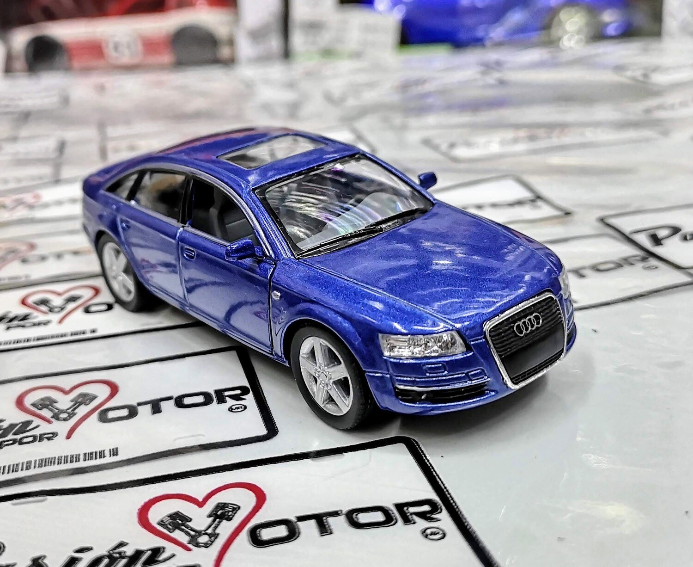 1:38 Audi A6 2005 Azul Kinsmart En Display / a Granel 1:32