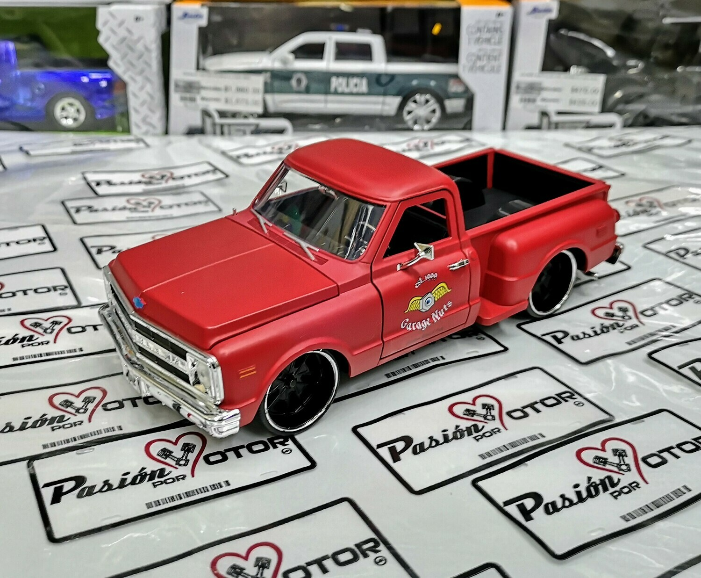 1:24 Chevrolet Pick Up C-10 Stepside 1969 Rojo Terracota Jada Toys Just Trucks En Display / A Granel