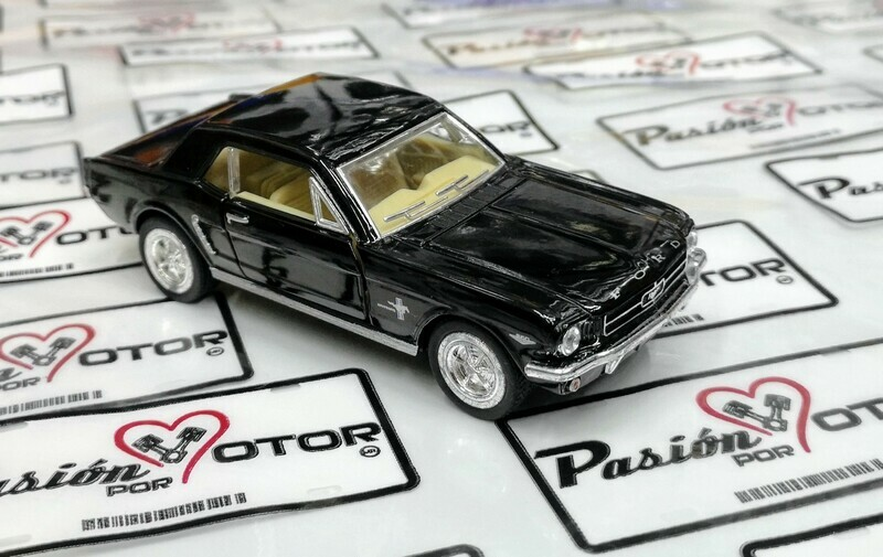 1:36 Ford Mustang Hard Top 1964 1/2 Negro Kinsmart En Display / a Granel 1:32 Shelby
