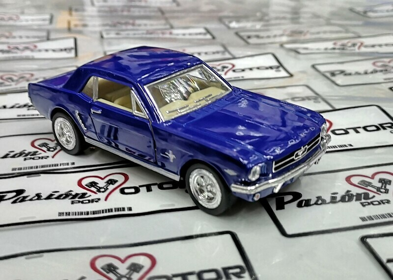 1:36 Ford Mustang Hard Top 1964 1/2 Azul Kinsmart En Display / a Granel 1:32 Shelby