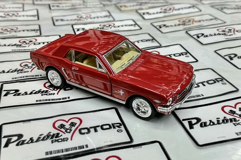 1:36 Ford Mustang Hard Top 1964 1/2 Rojo Kinsmart En Display / a Granel 1:32 Shelby
