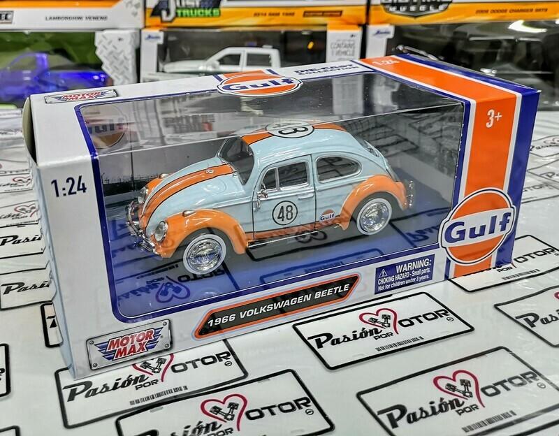 1:24 Volkswagen Beetle 1966 Gulf Motor Max Vocho C Caja