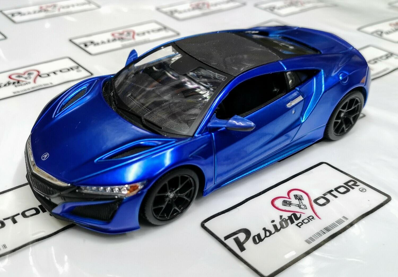 1:24 Acura NSX 2018 Azul Maisto Special Edition En Display / A Granel