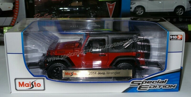 1:18 Jeep Wrangler Willys 2014 Soft Top Maisto Special Edition 1:18