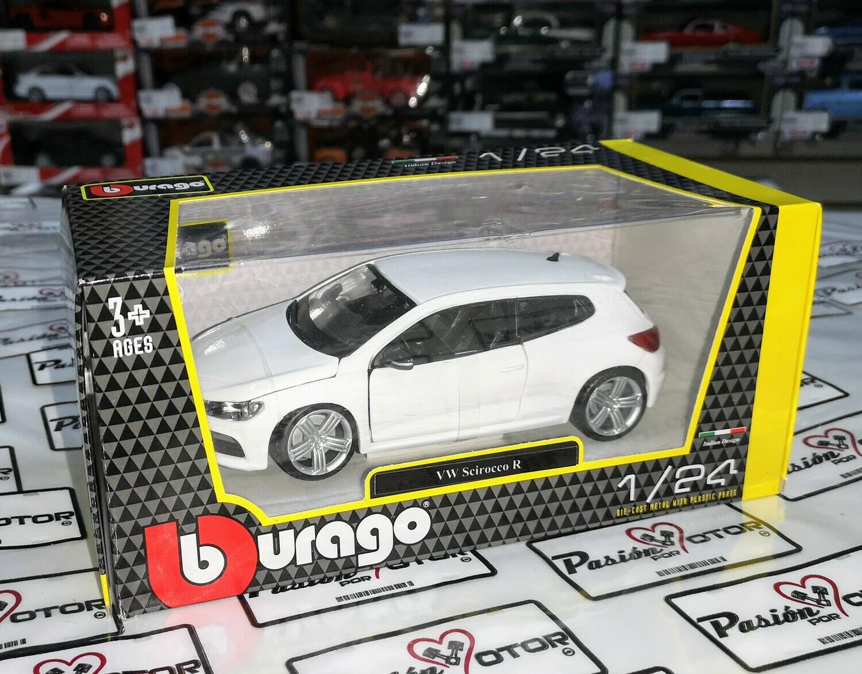 1:24 Volkswagen Scirocco R 2010 Blanco Bburago Burago En Caja Individual