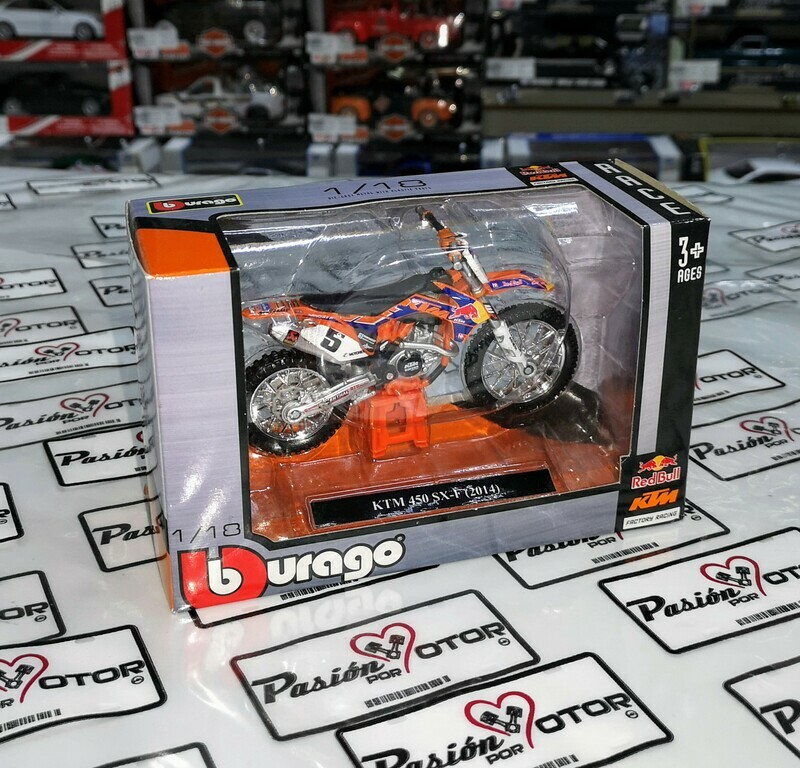 1:18 KTM 450 SX-F 2014 Bburago Red Bull KTM - Factory Racing