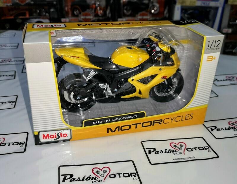 1:12 Suzuki GSX-R600 Amarillo Maisto Motorcycles