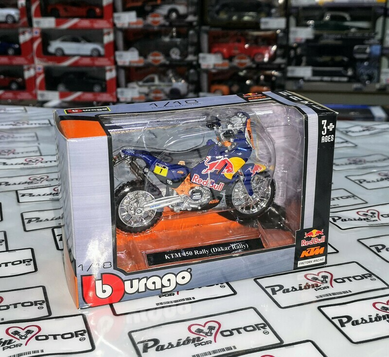 1:18 KTM 450 Rally Dakar Bburago Red Bull KTM - Factory Racing