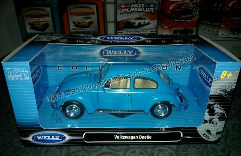 1:24 Volkswagen Beetle 1302 1972 Azul Welly C Caja