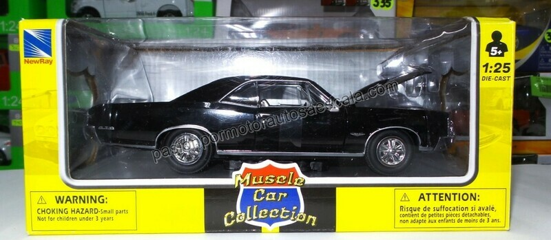1:25 Pontiac GTO 1966 Negro New Ray Muscle Car Collection C Caja 1:24