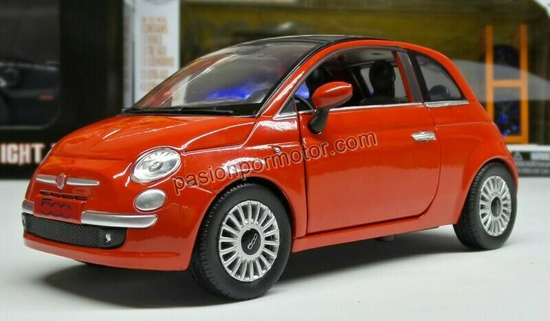 1:24 Fiat 500 2007 Rojo New Ray City Cruiser C Caja