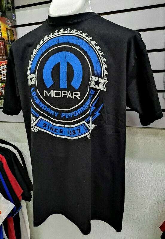 Playera Impresa Negro Mopar Since 1937 Talla Extra Grande